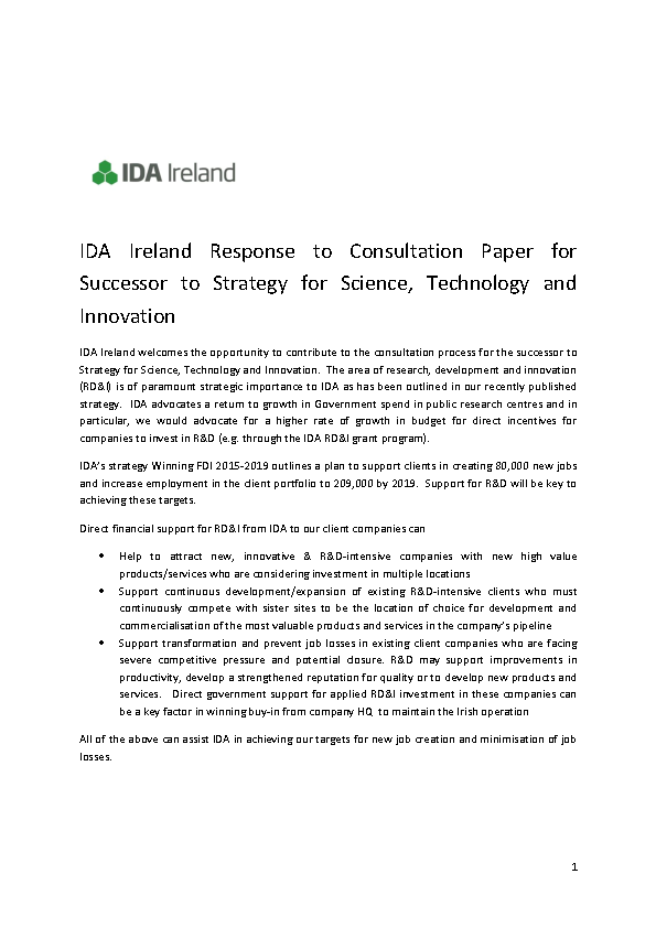 Image depicting item named IDA Ireland