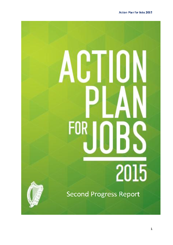 Image depicting item named Action Plan for Jobs 2015 Second Progress Report