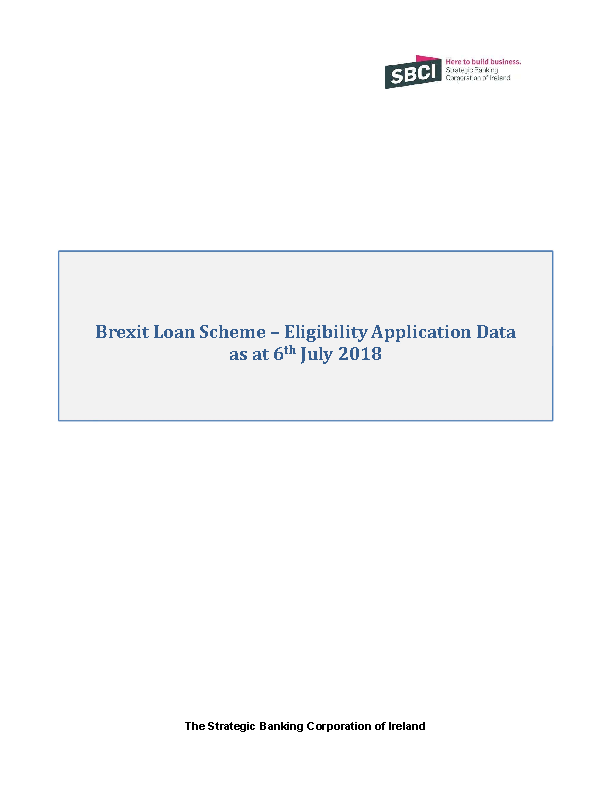Image depicting item named Brexit Loan Scheme Quarterly Report 6 July 2018