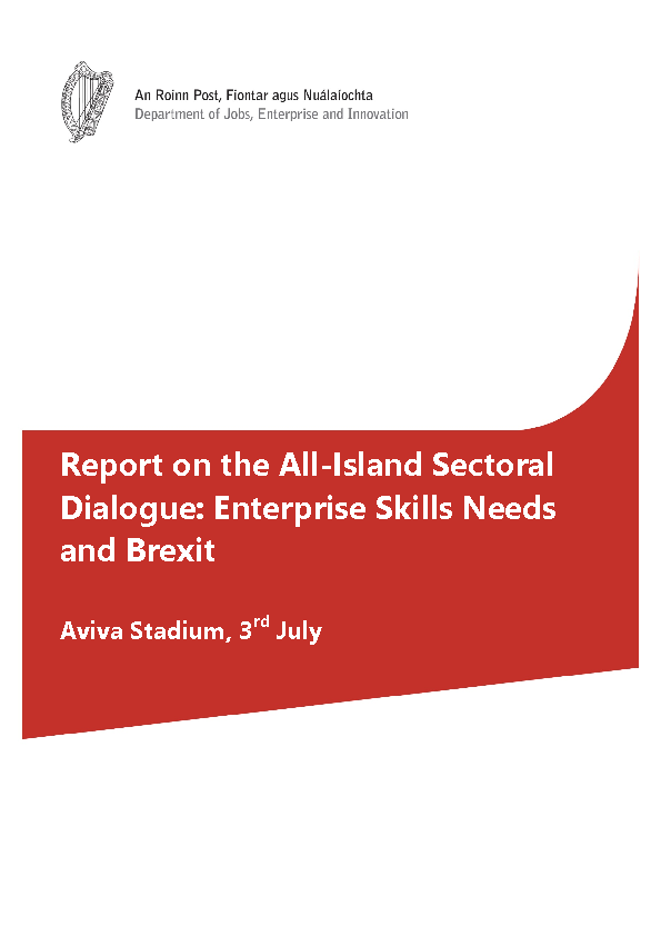 Image depicting item named DJEI Report on All-Island Sectoral Dialogue: Enterprise Skills Needs and Brexit