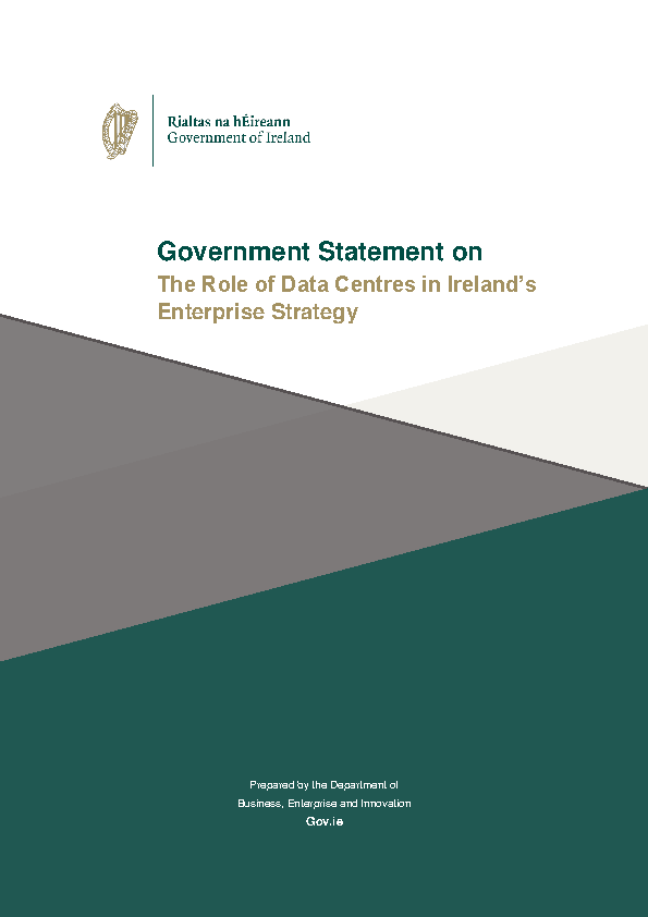 Image depicting item named Government Statement on the Role of Data Centres in Ireland's Enterprise Strategy
