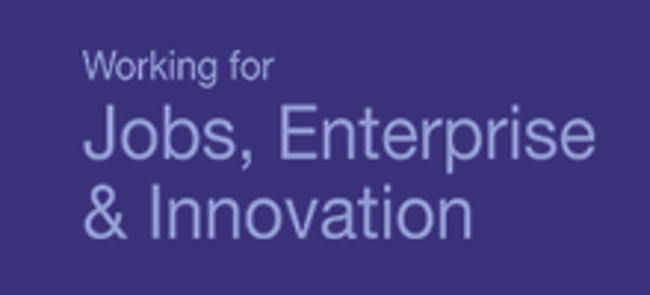 Working for jobs, enterprise and innovation logo