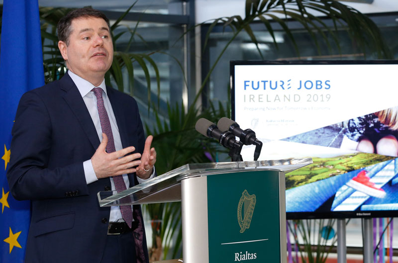 Minister Paschal Donohoe at the launch of Future Jobs Ireland 2019