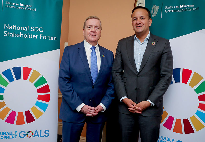 The Taoiseach and Minister Breen at the Forum on Sustainable Development Goals